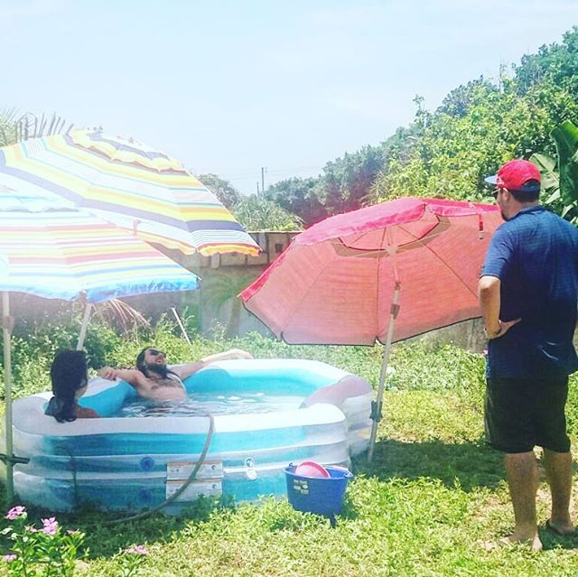 #birthday #bbq at the #watermeloncastle in #pulong . . . #watermelon #castle #kiddiepool #unbrella #poolbythebeach