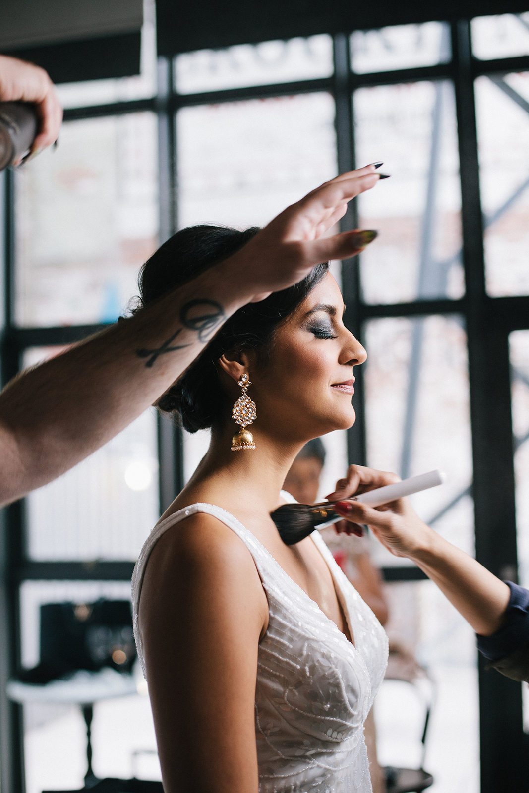 Finishing Touches, Wedding of Gabriela & Oliver, Brooklyn Winery, NY