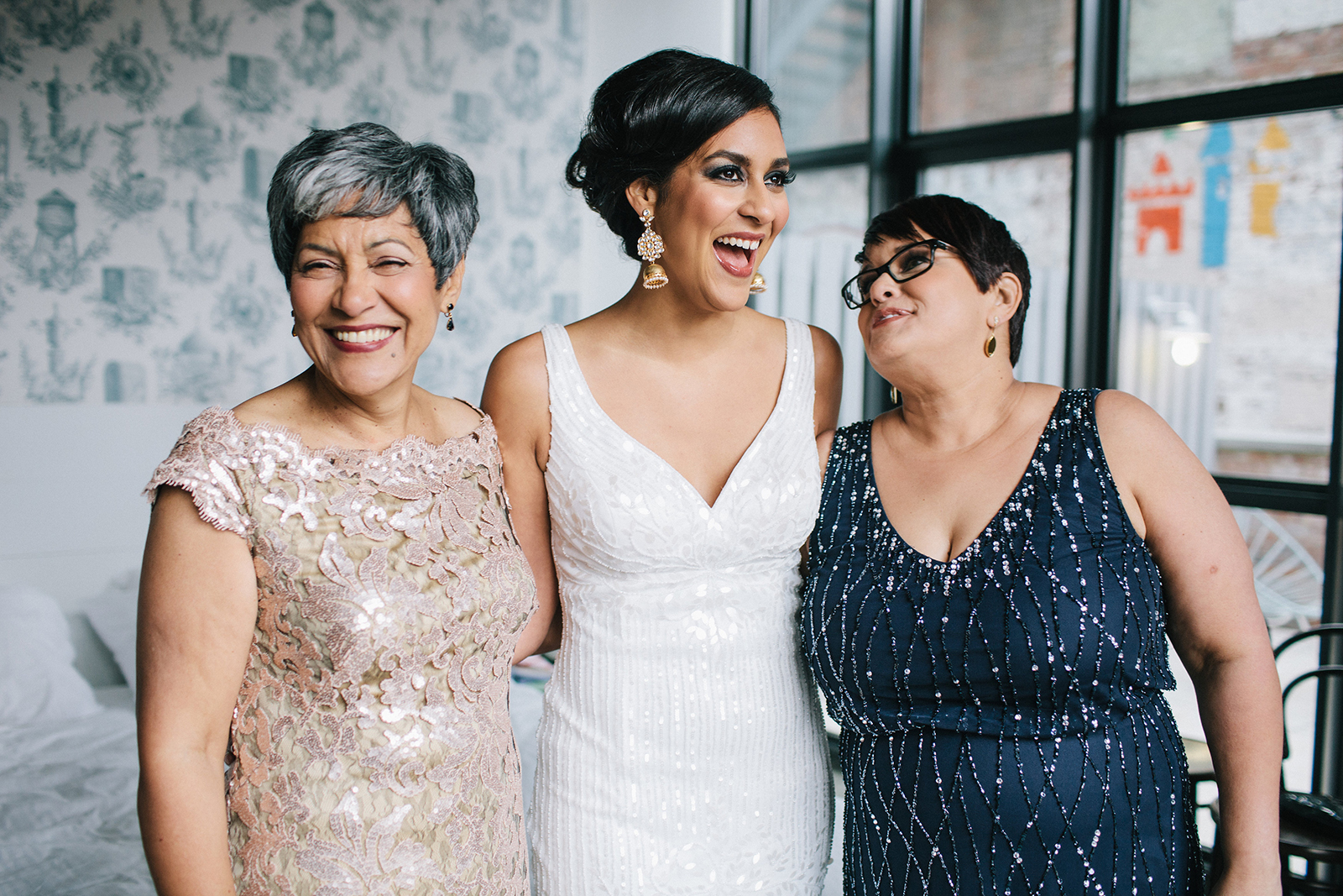 Family Portrait, Wedding of Gabriela & Oliver, Brooklyn Winery, NY