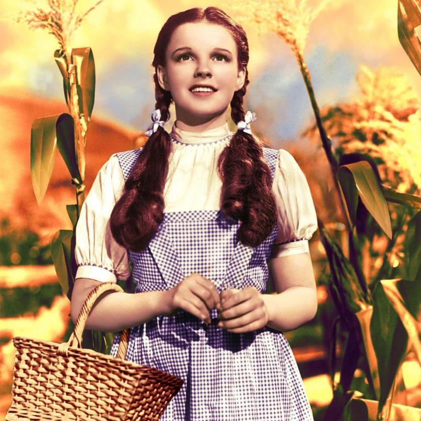 Judy Garland as Dorothy in 'The Wizard of Oz', 1939.