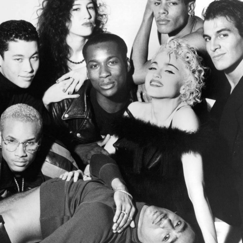 Madonna and her dancers in 'Truth or Dare', 1991.