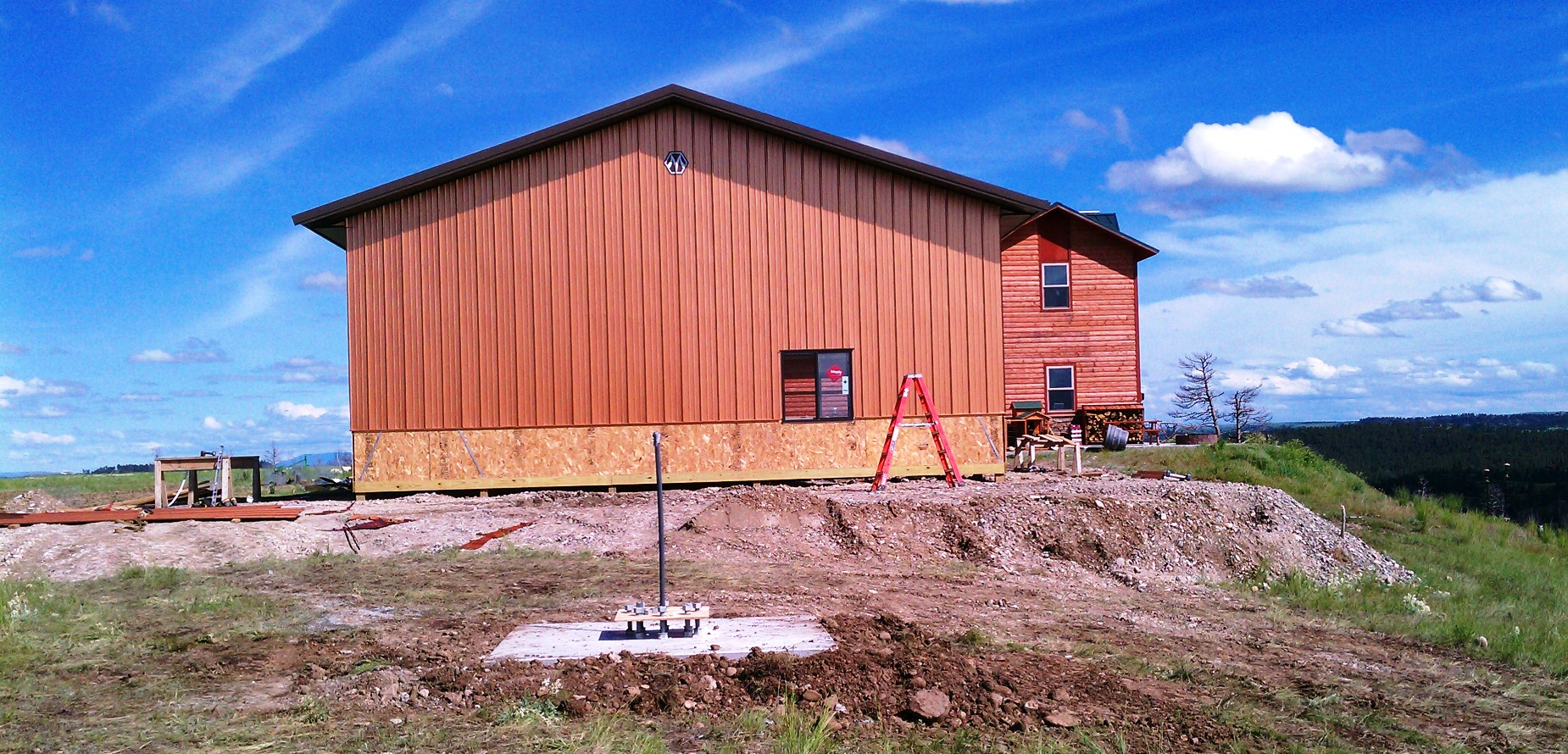 2011-06-10 - West Wall of New Seiver Ranch Shop Complete #1.jpg