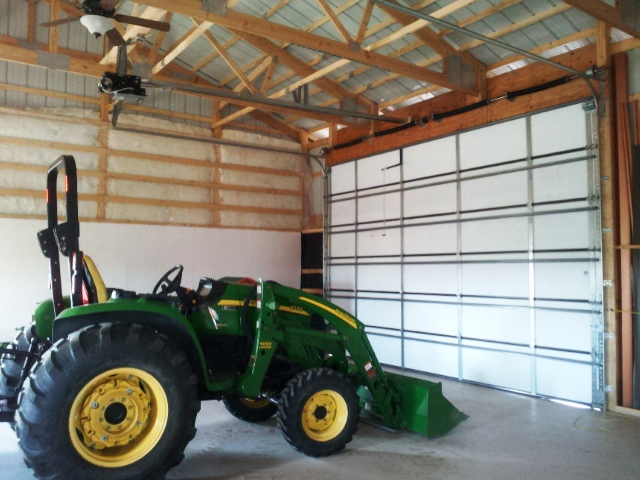 2011-07-16 - Tractor and New Garage Door in New Shop.jpg