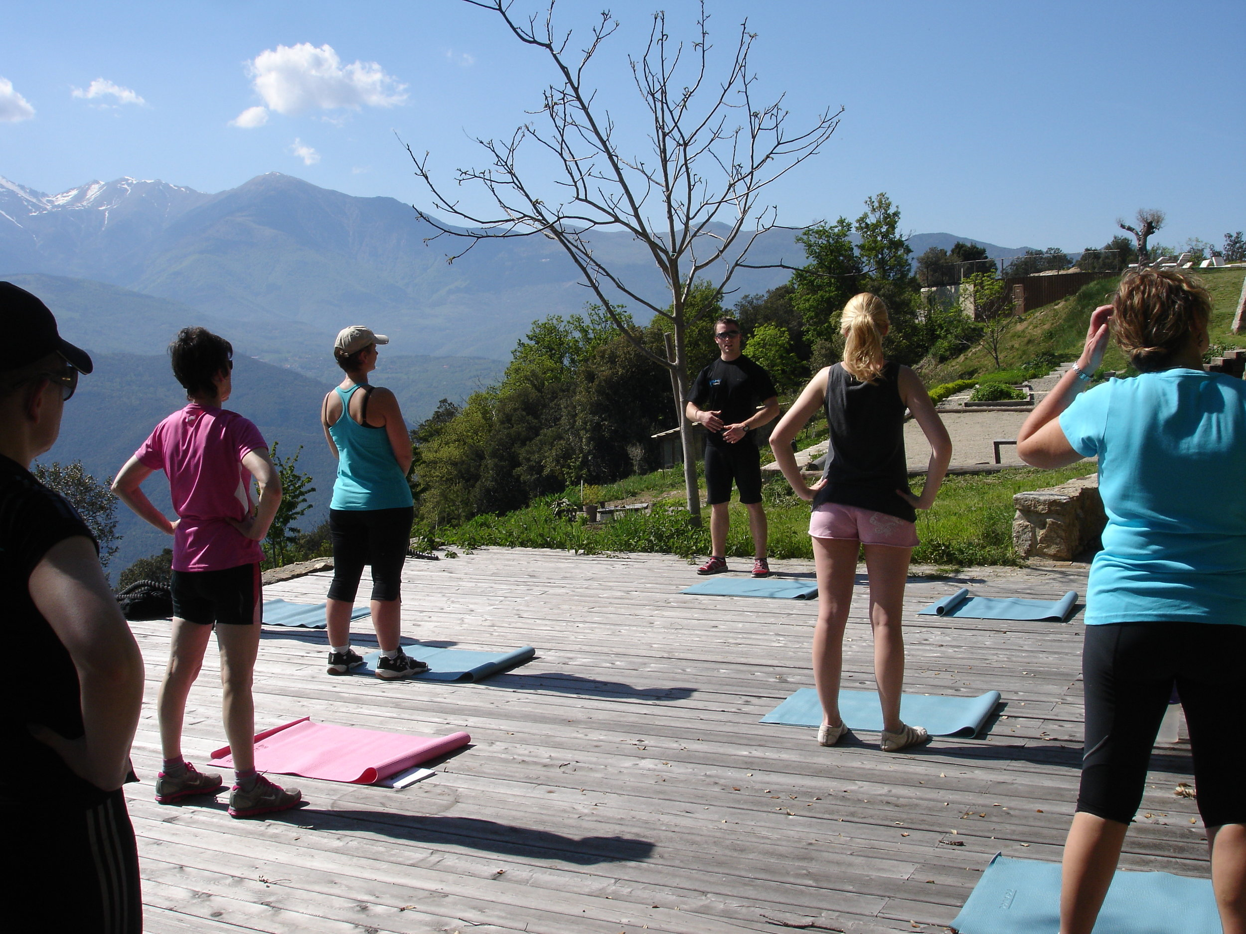 Posture class in the Pyrenees