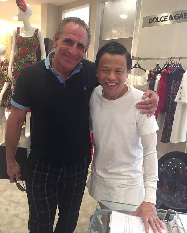 Running into ol friend talented designer Zang Toi