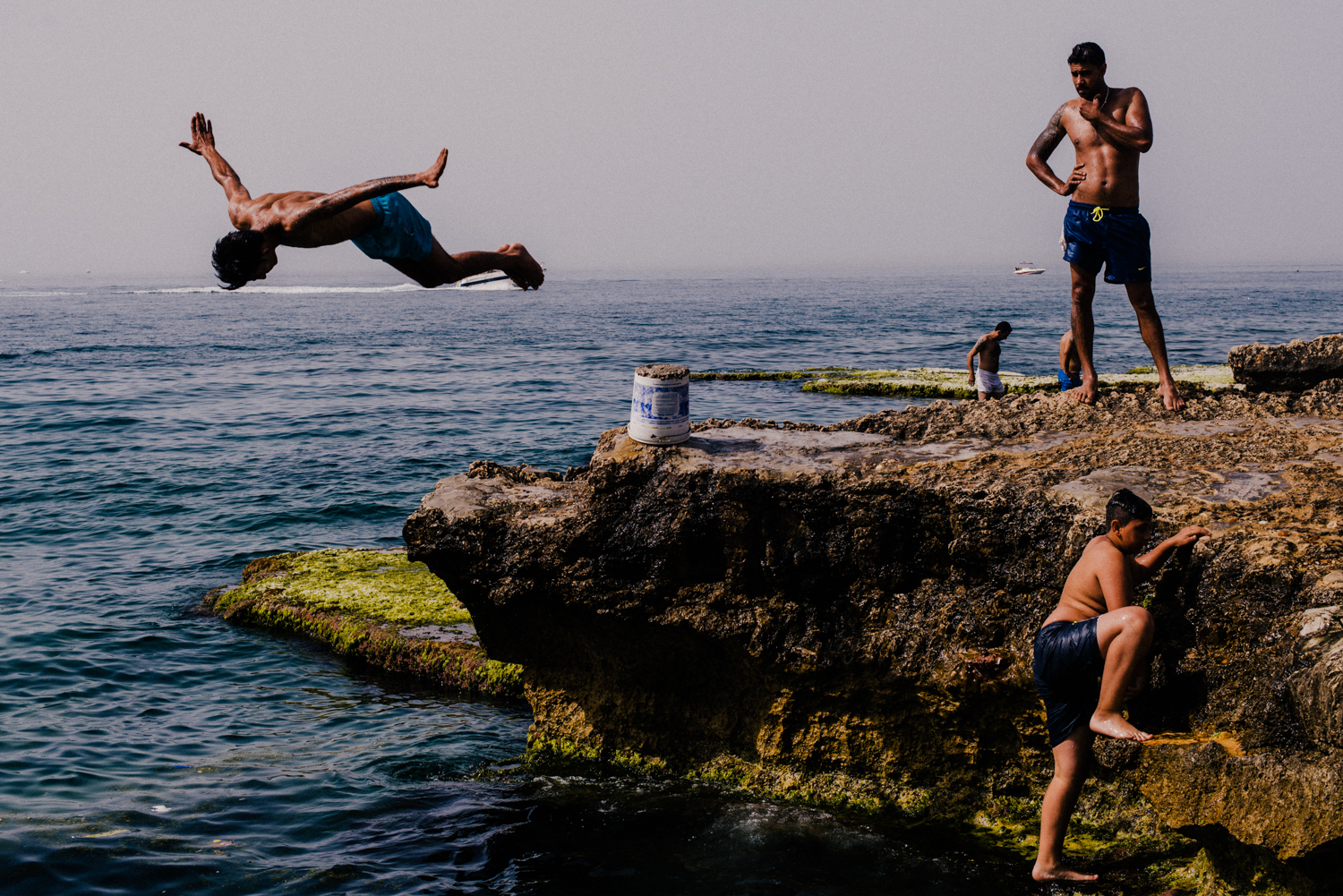 Divers at the Beirut corniche for Monocle.