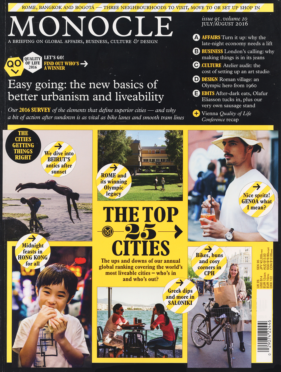 Cover story (top left image) on Beirut's corniche for Monocle.
