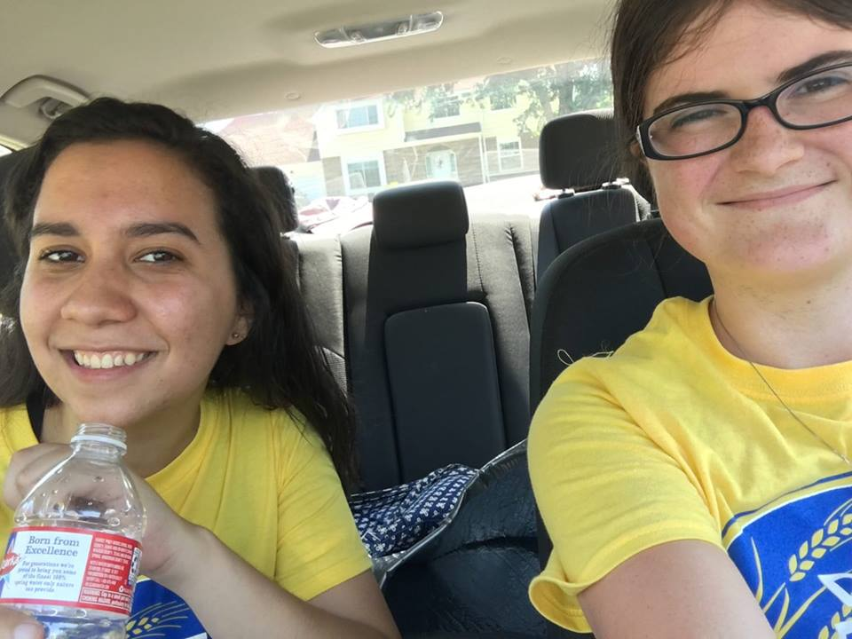 It's finally my face! This is my friend Nicole and I canvassing this past Saturday