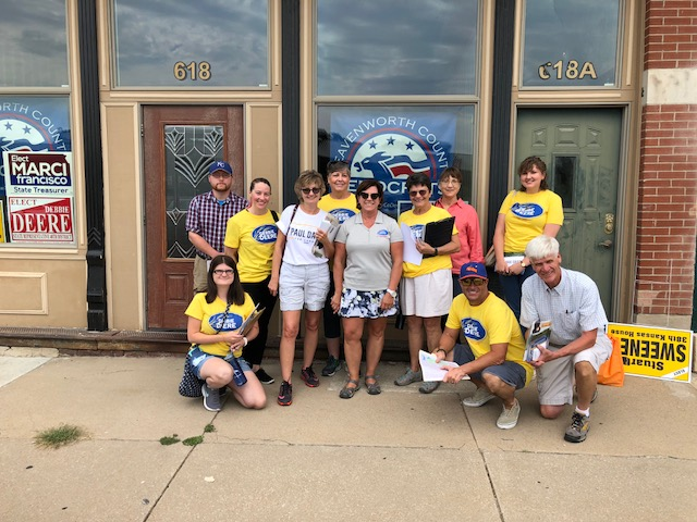 A joint canvass for both Paul Davis and Debbie Deere on Saturday, July 28th! We had a great turnout, and it wasn't that hot.