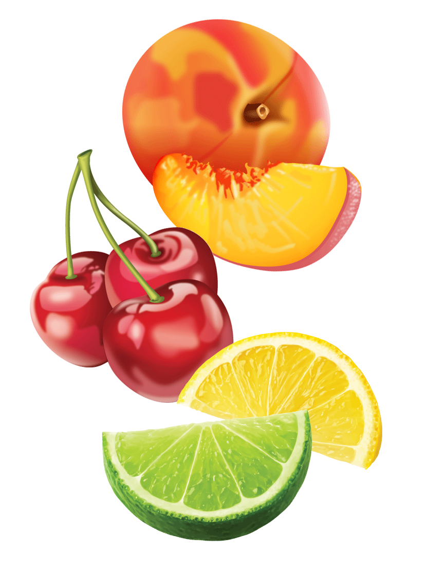 Mixed Fruits for Packaging   Vector