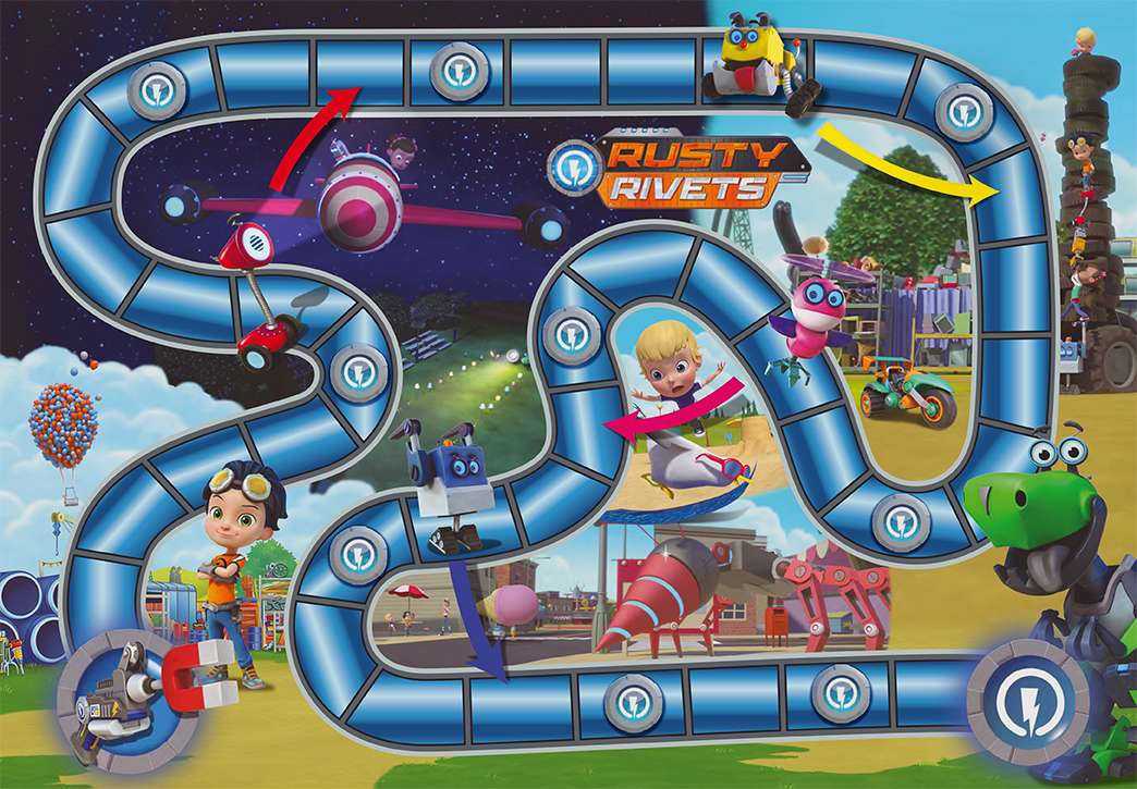 Rusty Rivets Game Board   Spinmaster All Rights Reserved©