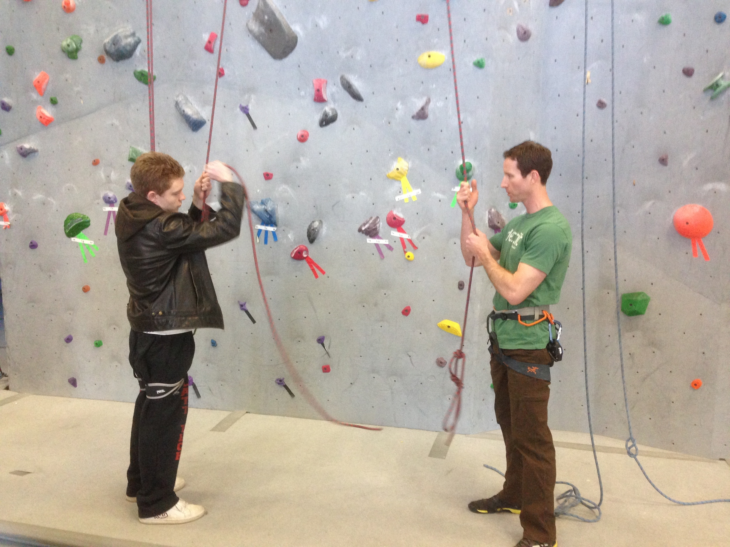 Climbing instructor training