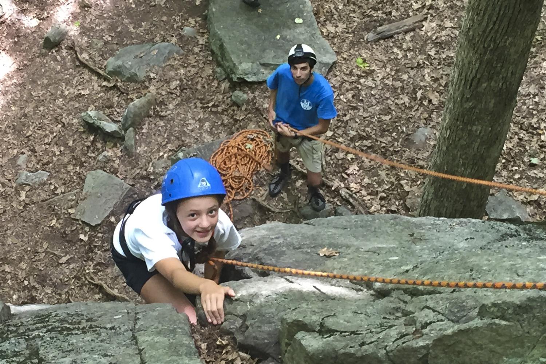 Rock climbing at St Johns Ledges (Kent, CT)
