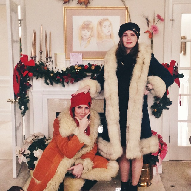 My sister and I goofing around after raiding our Grandma's closet last Christmas. You're never too old for a little dress up!