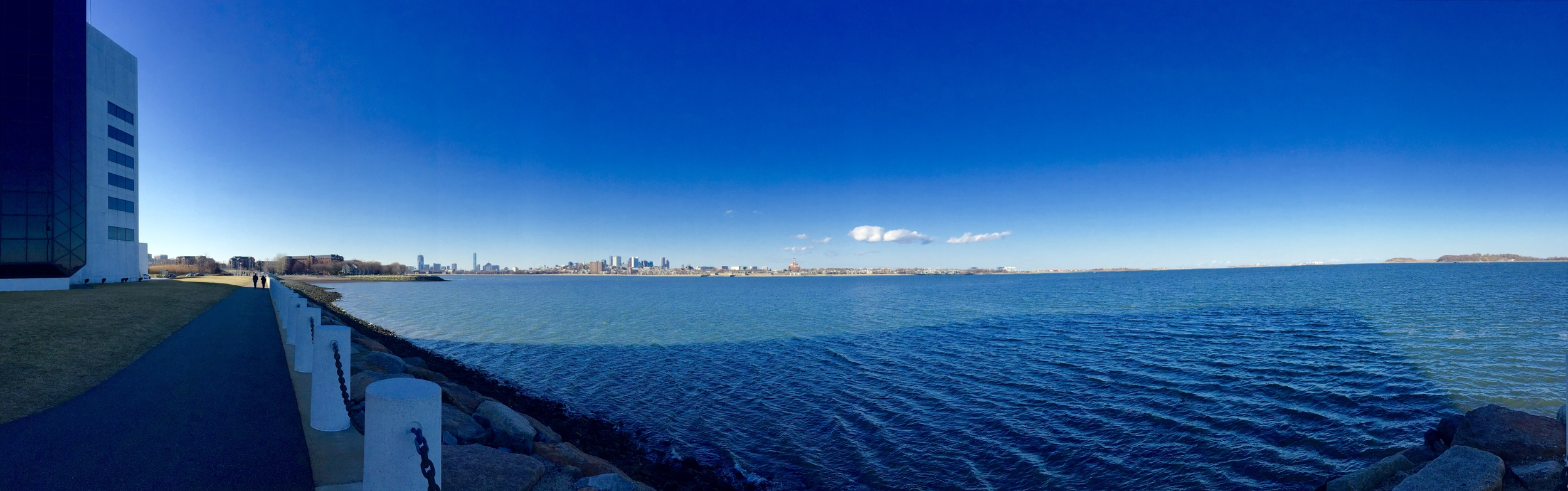 A view of downtown Boston from the JFK Memorial Library, one of my favorite spots on the water!