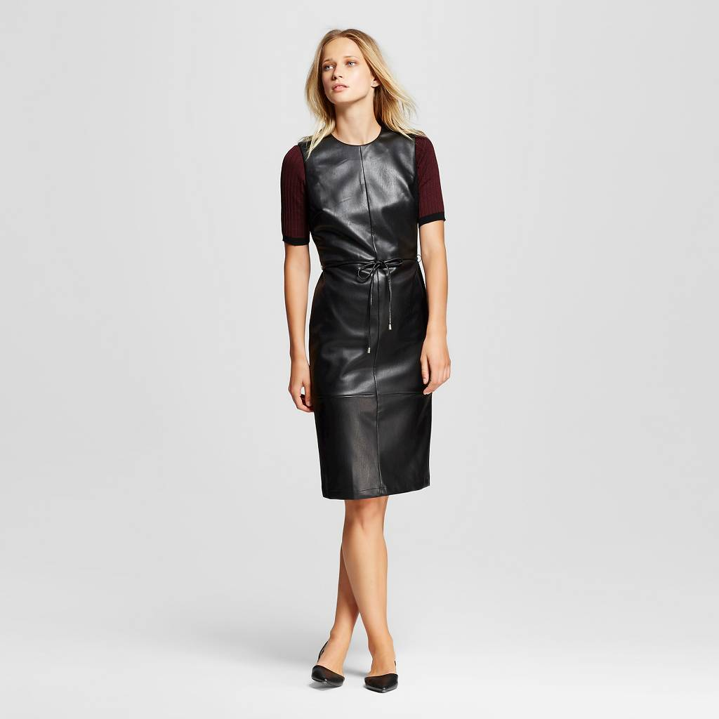 Faux Leather Dress.jpeg