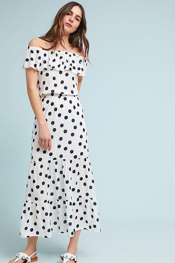 Anthropologie Polka Dot Off the Shoulder Dress.jpeg