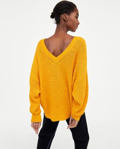 Zara Double V Neck Sweater.jpg