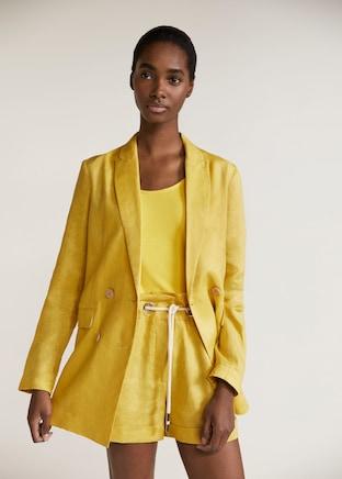 Mango Linen double-breasted blazer .jpg