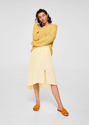 Mango Pleated Mini Skirt.jpg
