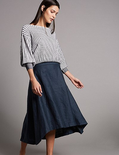 Marks and Spencer A-Line Midi Skirt.jpeg
