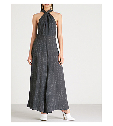 Paper London Cala Wide Leg Dot Print Crepe Jumpsuit.jpeg