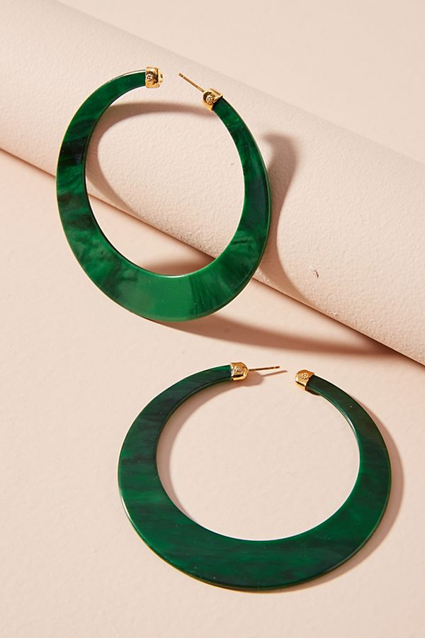 Anthropologie Green Paradise Hoop.jpeg