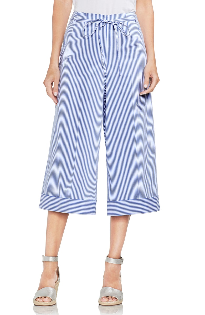 Vince Camuto Tie Front Stripe Culottes.jpg