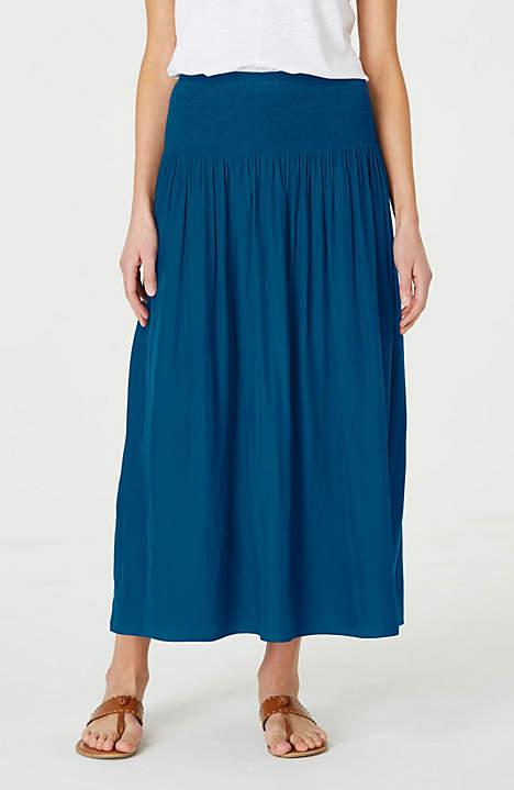 J Jill Smocked Waist Maxi Skirt.jpeg