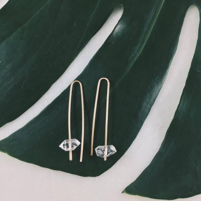 Decent Things Herkimer Arc Earrings .jpg