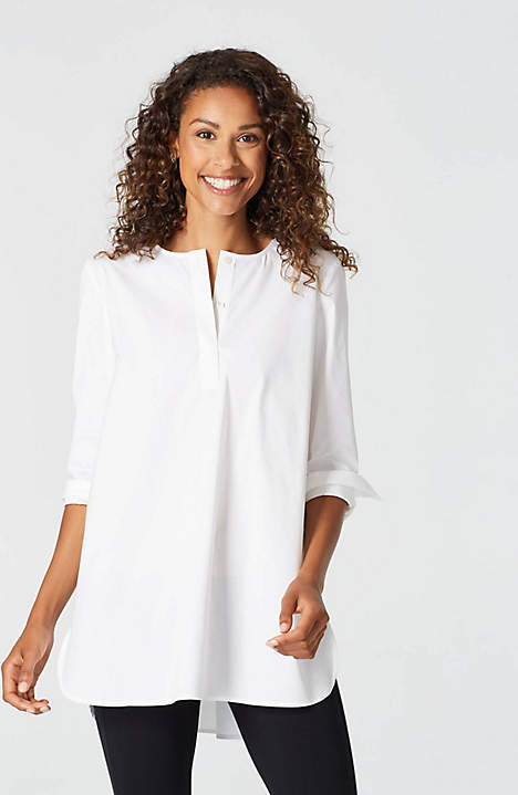 JJill Cotton Stretch Shirttail Tunic.jpeg