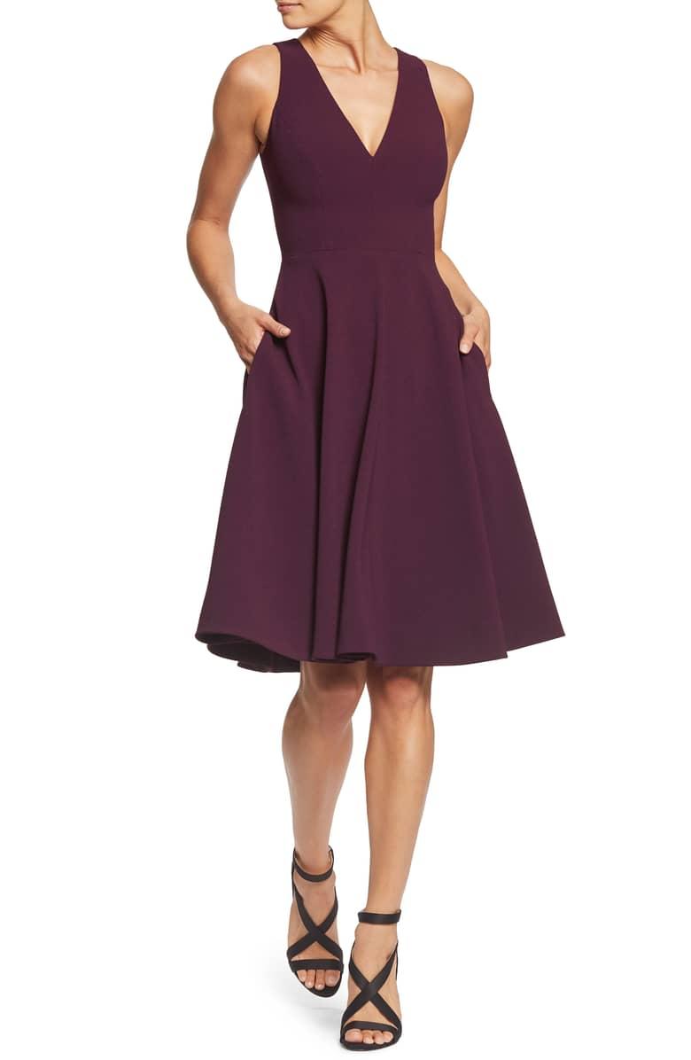 Burgundy Dress the Population Catalina.jpeg