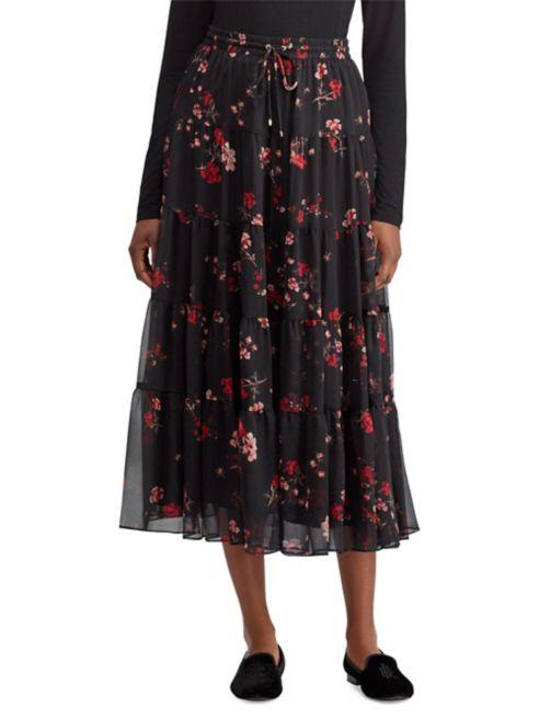 Lauren Ralph Lauren Floral Georgette Peasant Skirt.png