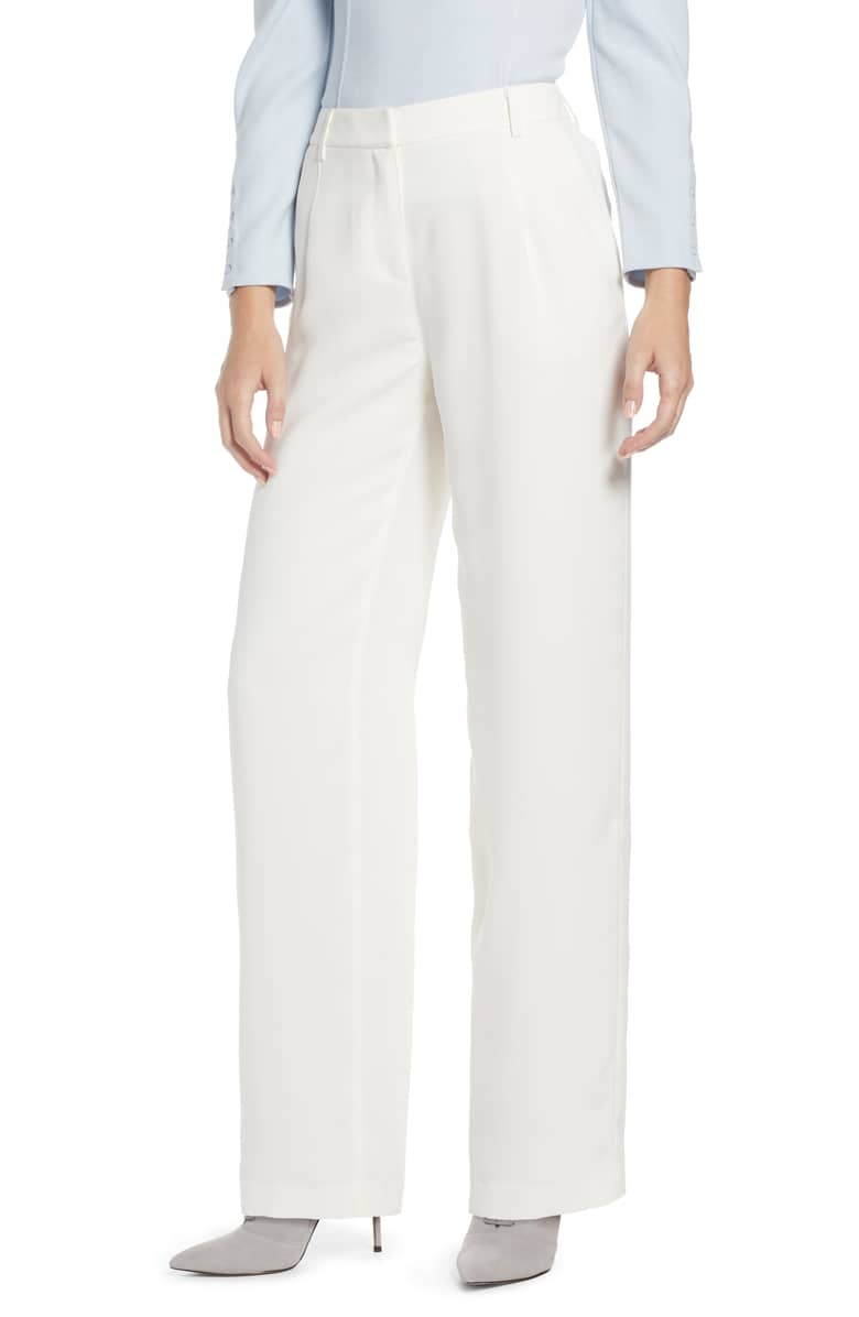 Something Navy Pleated White Leg Trouser.jpeg