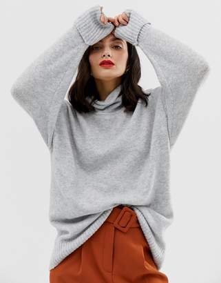 ASOS DESIGN eco chunky sweater in oversize with high neck.jpg