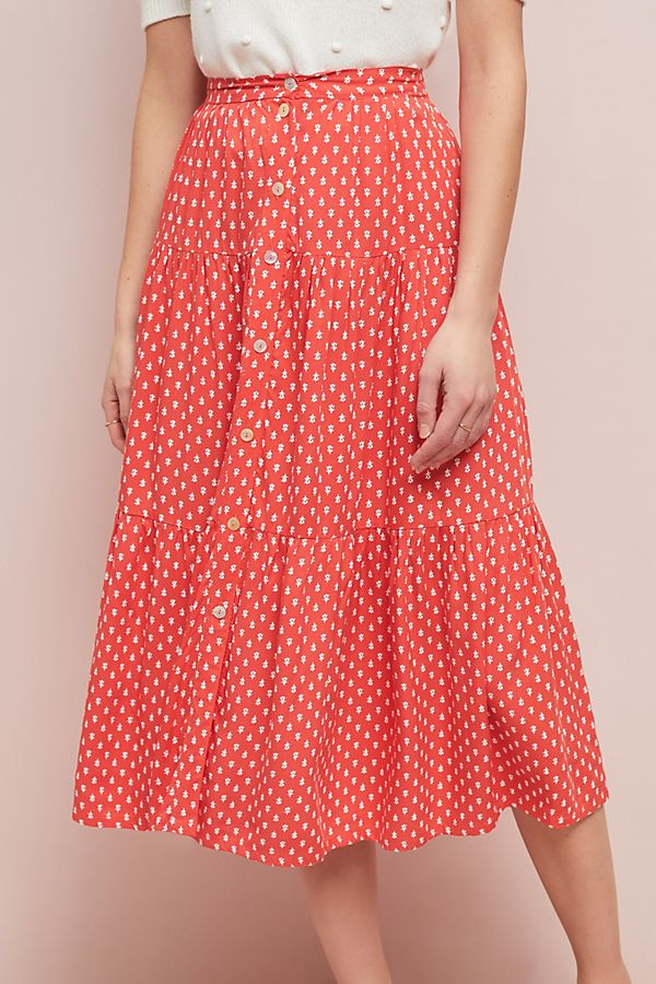 Daisy Button Front Skirt.jpeg