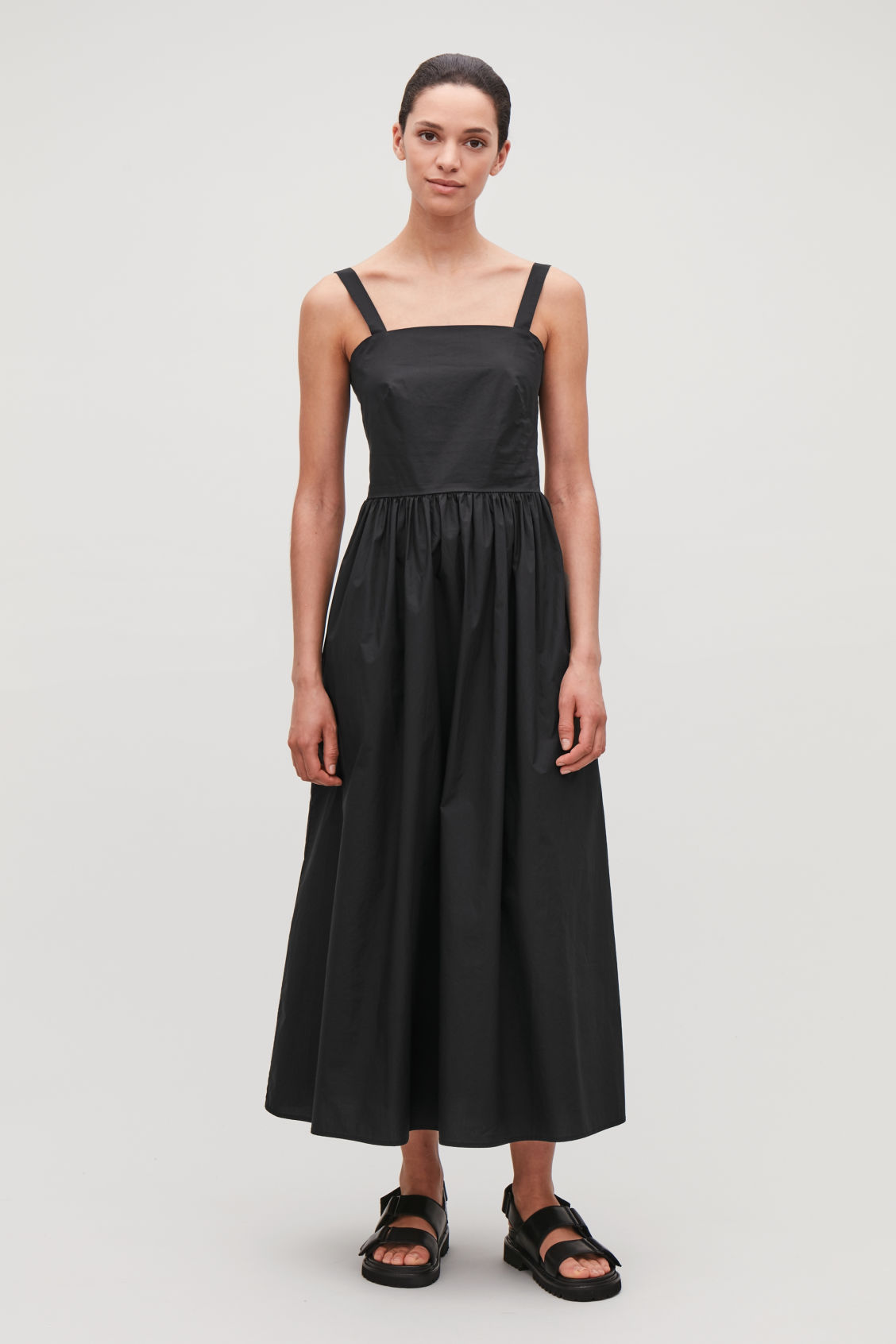 Cos VOLUMINOUS-SHAPE COTTON DRESS .jpeg