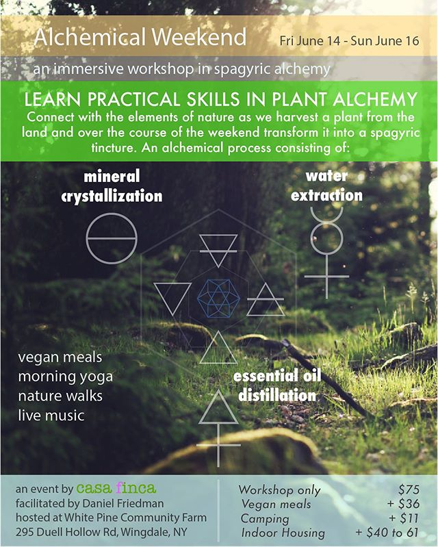 Our alchemy weekend is coming soon. Limited spots only