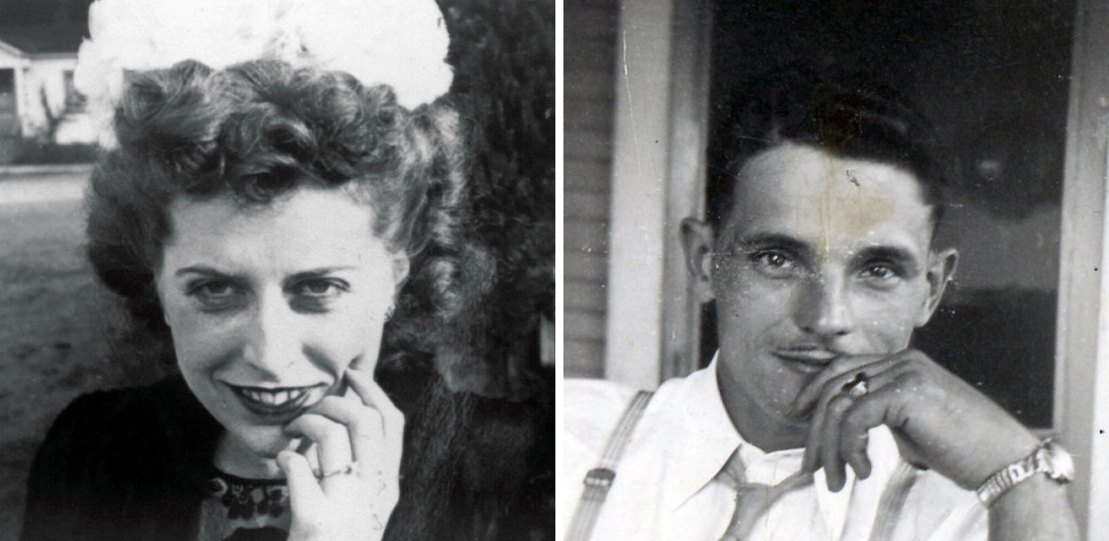 Babe and Jim Giese in their courting days.