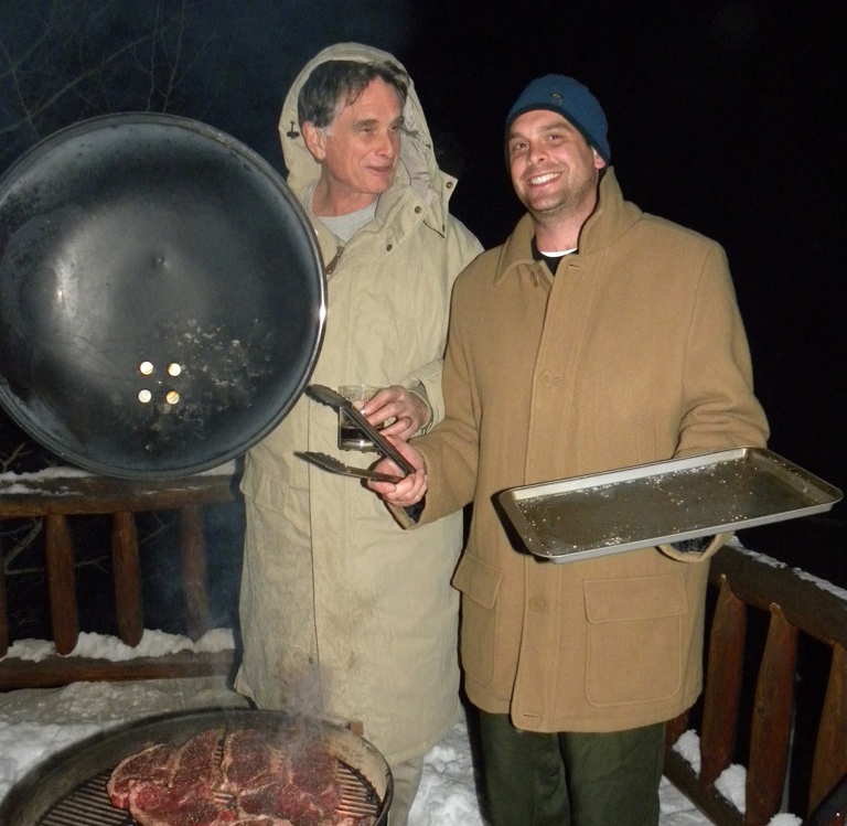 Jim Giese, and his son, Tony Giese, New Years 2011, Montana