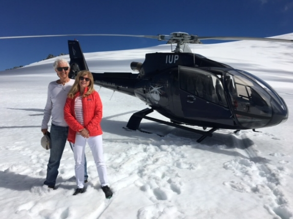 Wandering on a glacier!