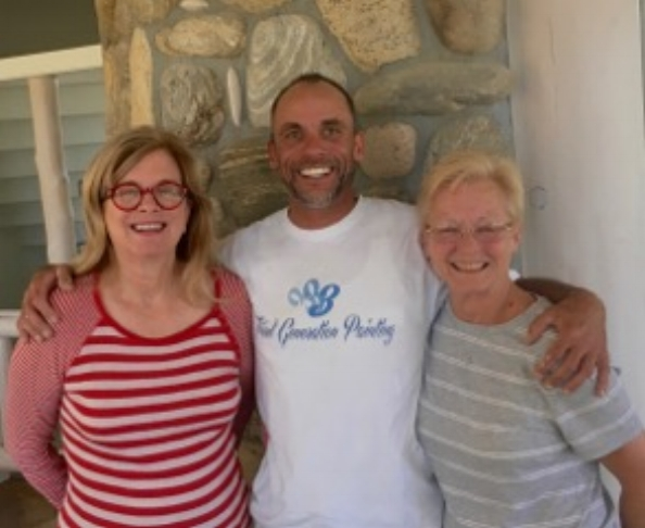 Jo Giese, Tooth Fairy, Tim Dobbs, and his mom, Norma Wells