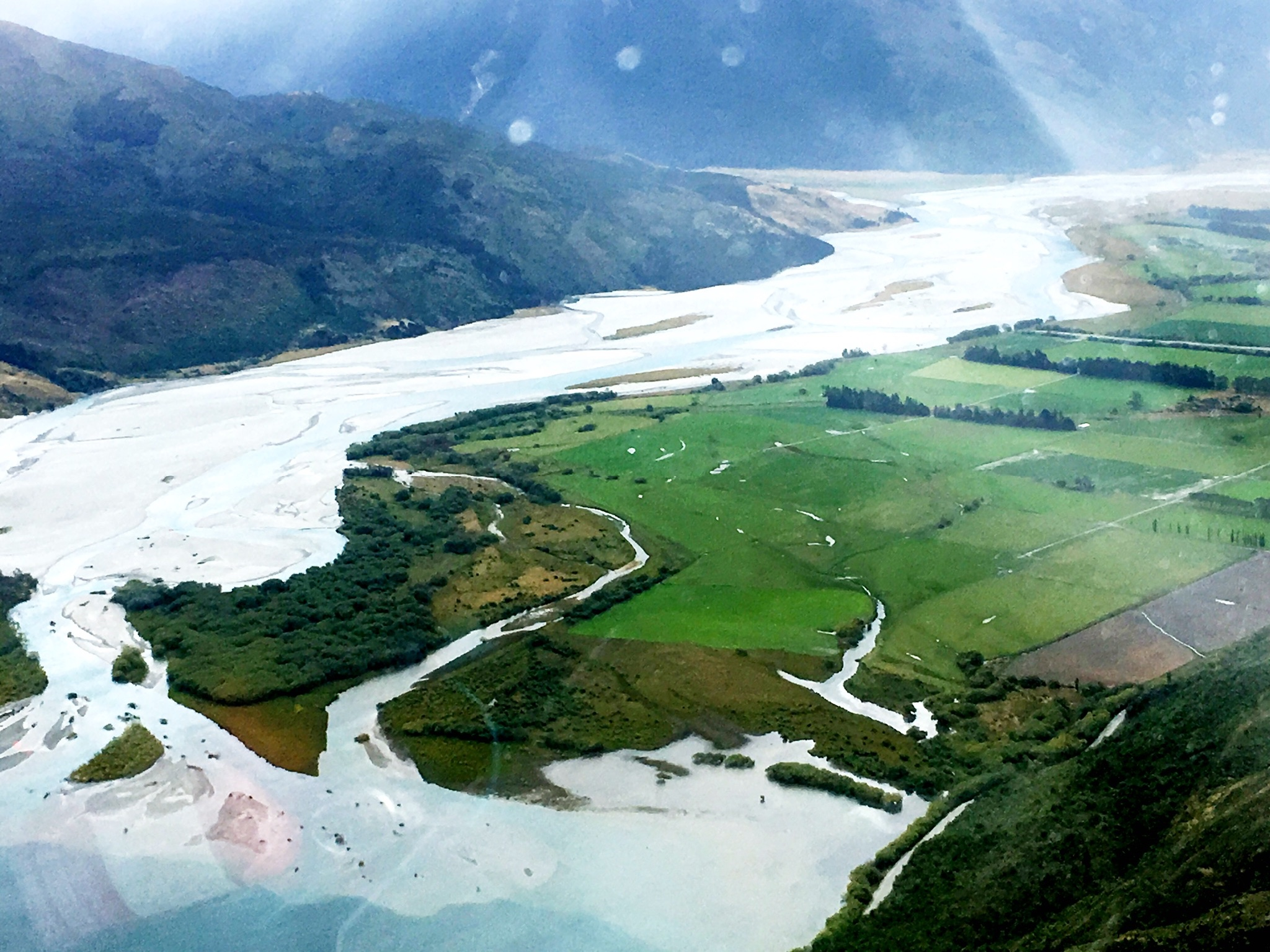 Returning by helicopter to Cedar Lodge, South Island, New Zealand