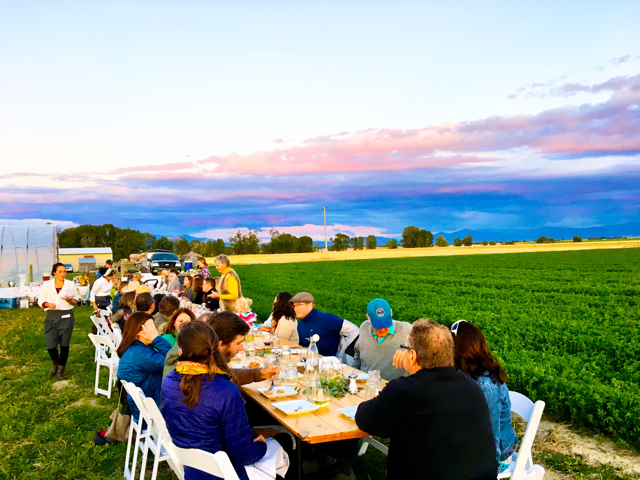 Farm to Table dinner by Chef Melissa Harrison during summer in Bozeman, MT