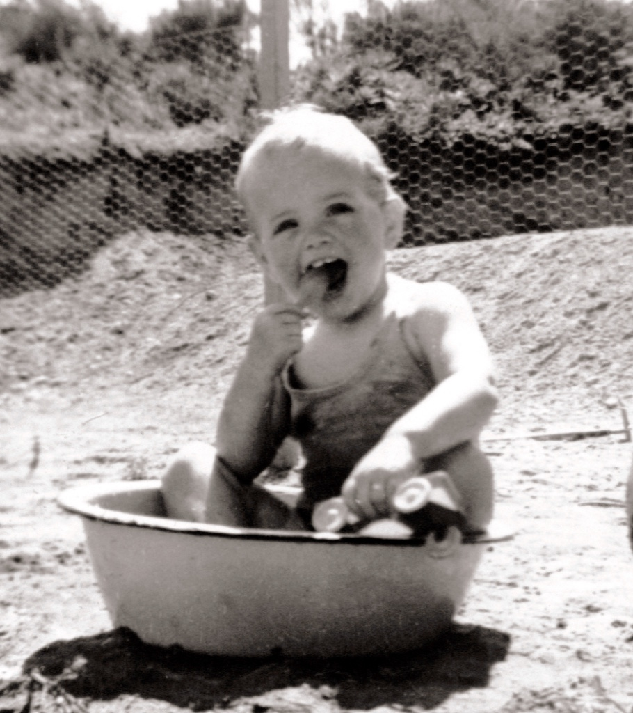 "The author as a ""cute"" baby."