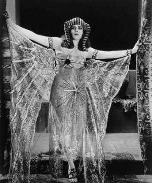 Claudette Colbert as Cleopatra, in Ancient Egypt