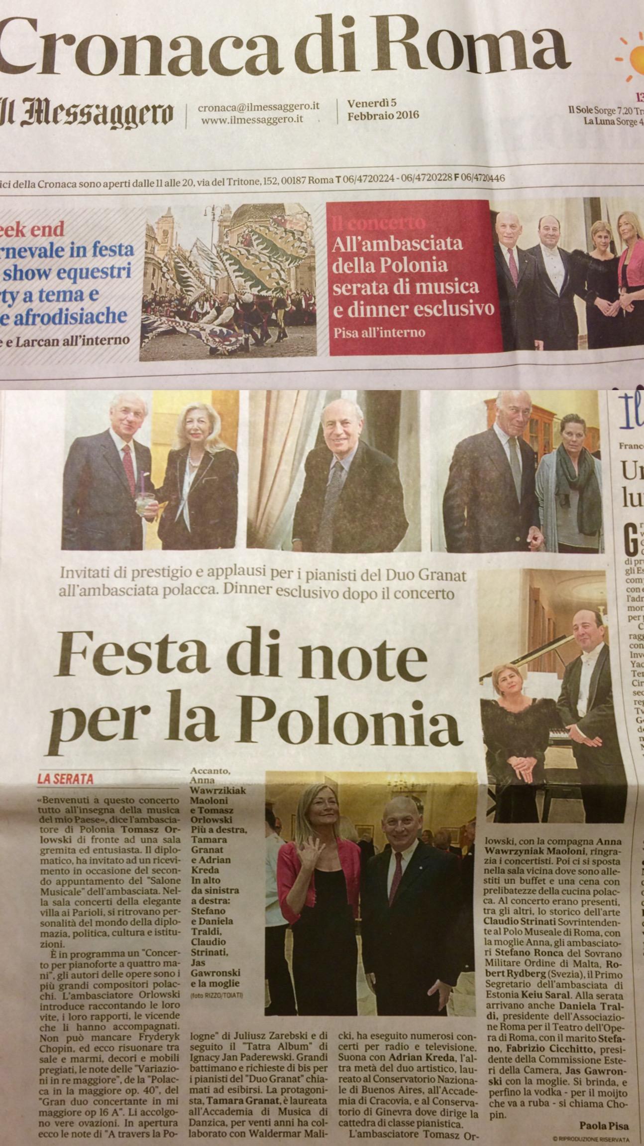 Cronaca di Roma, February 5, 2016