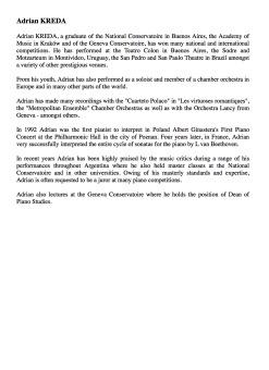 Adrian Kreda - Biography (English, Word)