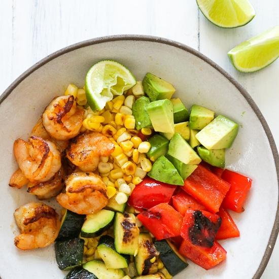 Grilled Shrimp & Veggie Bowl