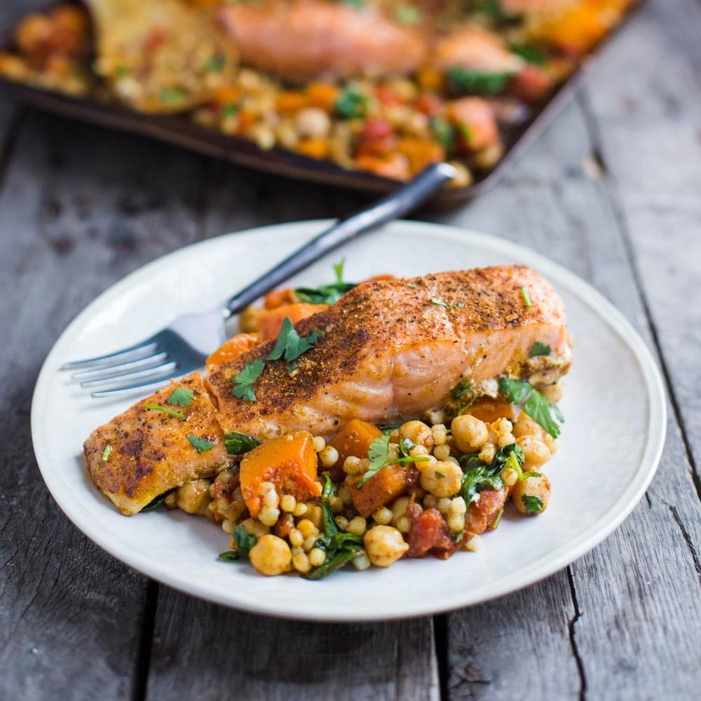 1 Pan Quinoa Salmon Squash